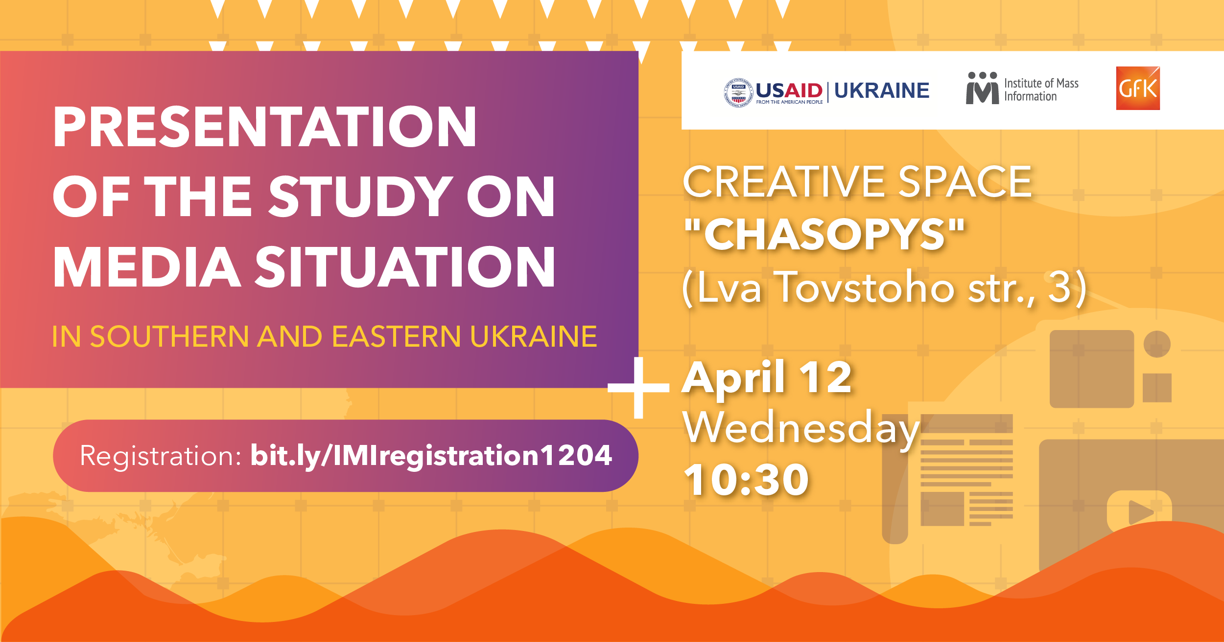 In Kyiv, IMI and GfK present research of media situation in