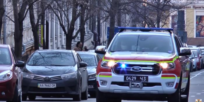 Фото – скриншот з відео ДСНС