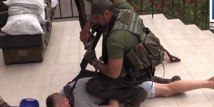 Фото – скриншот з відео Першого Міського
