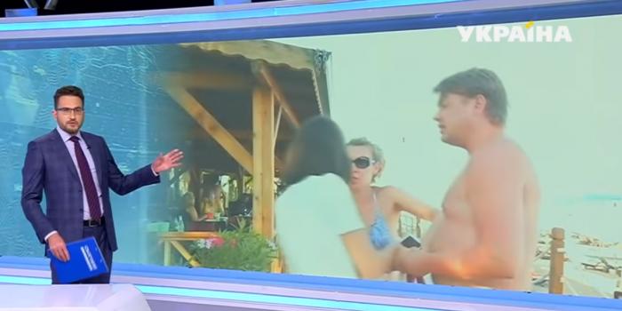 Screenshot fromthe video of Ukraina TV