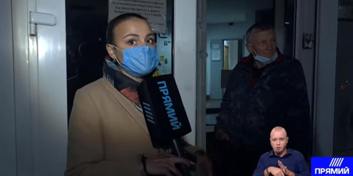 Фото – скриншот з відео Прямого каналу