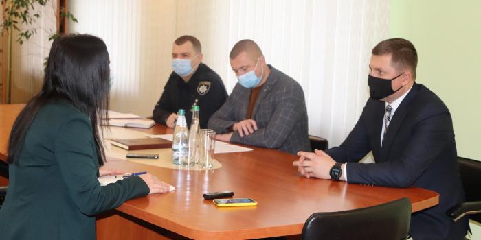 press officer of the police in Rivne region, Maria Yustytska
