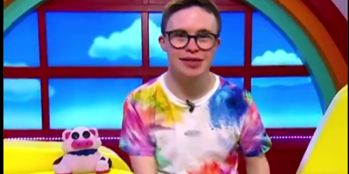 Screenshot from the video of CBeebies